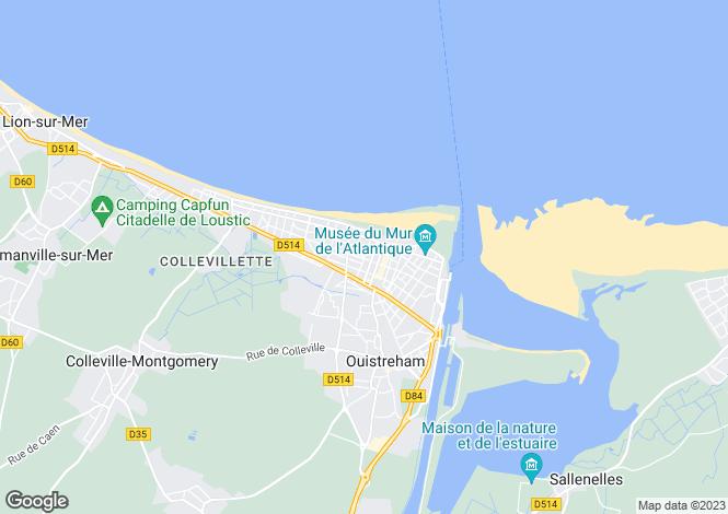 Map for ouistreham, Calvados, France
