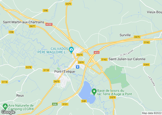 Map for PONT L EVEQUE, NORMANDIE
