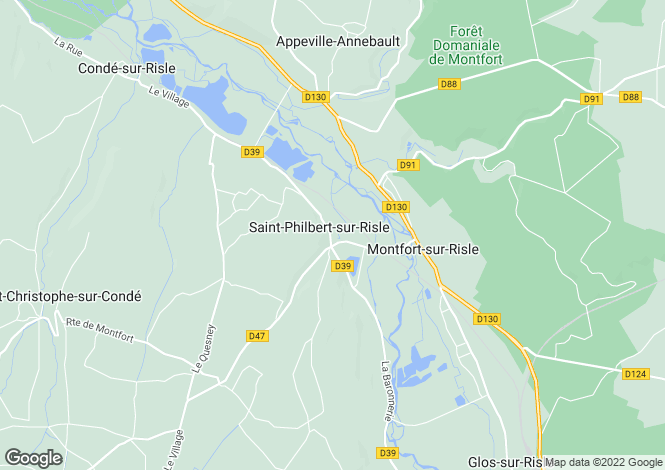 Map for st-philbert-sur-risle, Eure, France