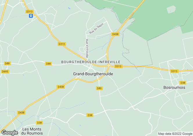 Map for bourgtheroulde-infreville, Eure, France
