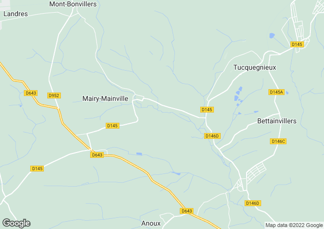 Map for Mairy-Mainville, Meurthe-et-Moselle, Lorraine