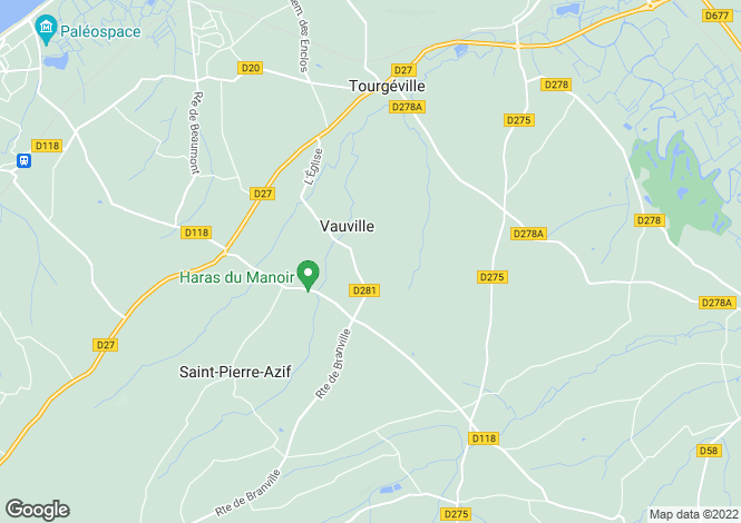 Map for vauville, Calvados, France