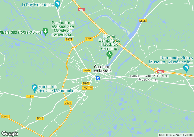 Map for CARENTAN, 50480, France