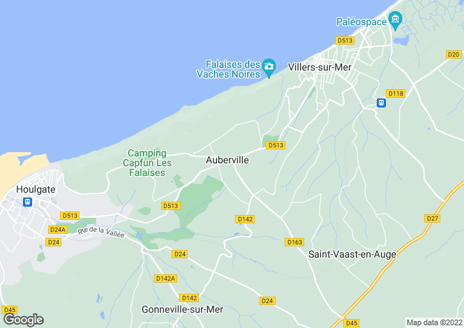 Map for auberville, Calvados, France