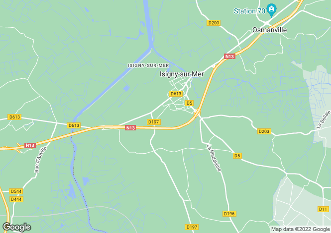 Map for Normandy, Calvados, Isigny-sur-Mer