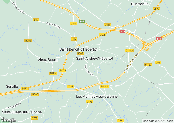 Map for saint-andre-d-hebertot, Calvados, France