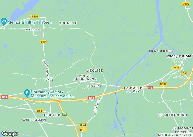 Map for 50500 LES VEYS, Manche, France