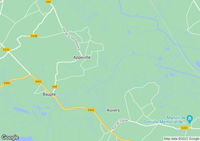 Map for Appeville, Manche, Normandy