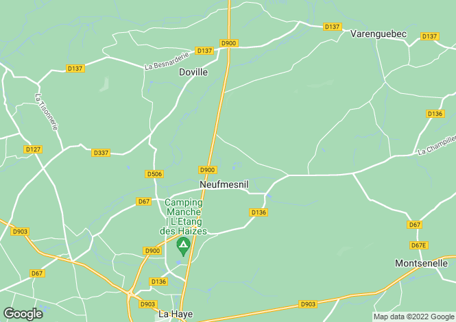 Map for Neufmesnil, Manche, 50250, France