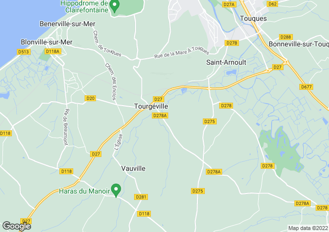 Map for TOURGEVILLE, Basse-Normandie