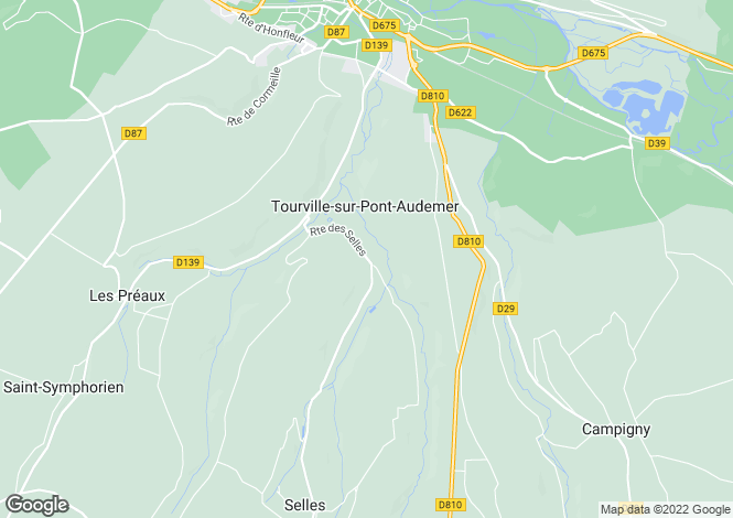 Map for tourville-sur-pont-audemer, Eure, France