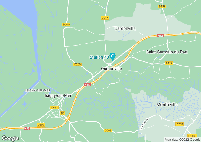 Map for ISIGNY SUR MER, Basse-Normandie