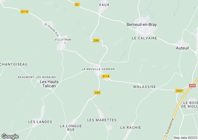Map for Picardy, Oise, La Neuville-Garnier