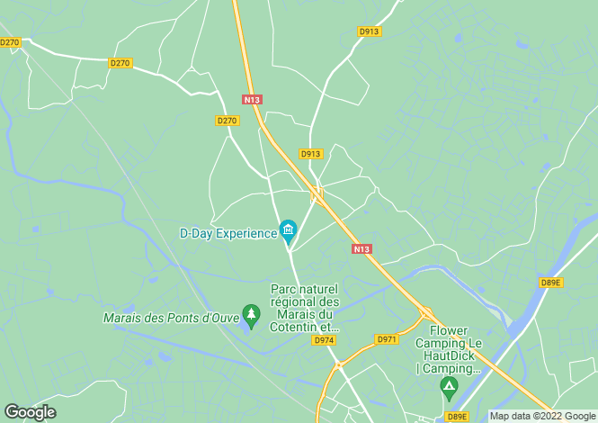 Map for Saint-Come-Du-Mont, Manche, 50500, France