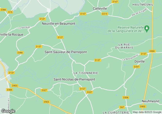Map for Normandy, Manche, St-Sauveur-de-Pierrepont