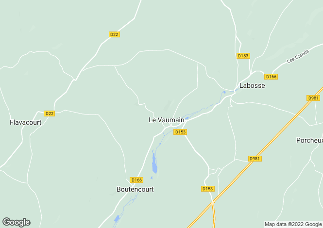 Map for Picardy, Oise, Le Vaumain