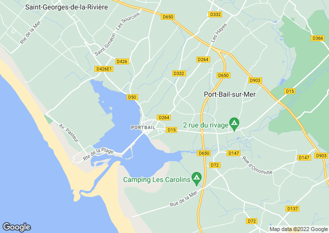 Map for portbail, Manche, France