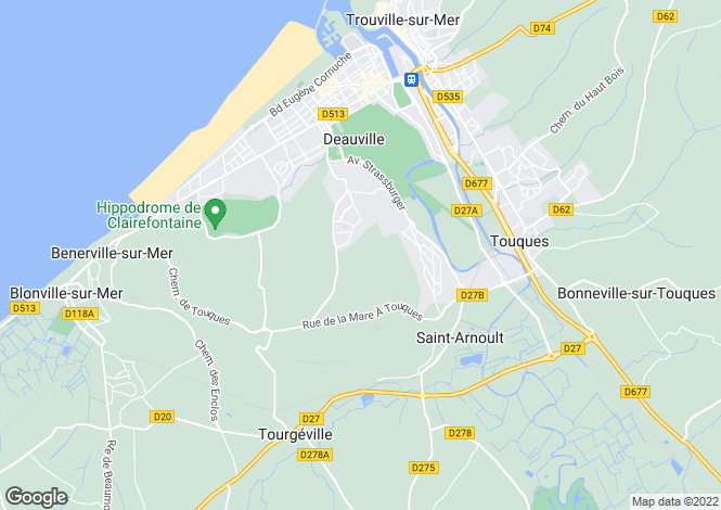 Map for Deauville, Calvados, Normandy