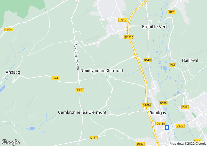 Map for neuilly-sous-clermont, Oise, France