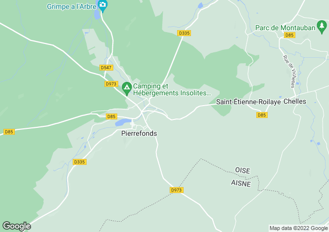 Map for pierrefonds, Oise, France