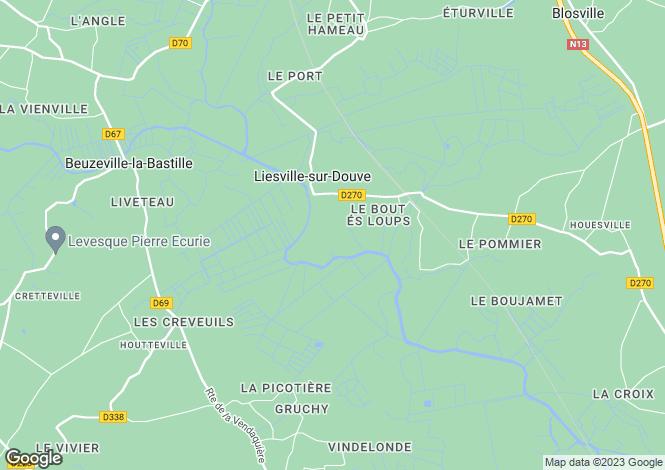 Map for liesville-sur-douve, Manche, France