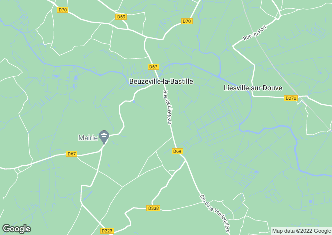 Map for Normandy, Manche, Beuzeville-la-Bastille