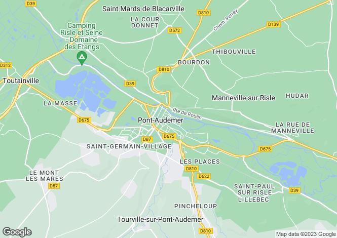 Map for PONT AUDEMER, Haute-Normandie