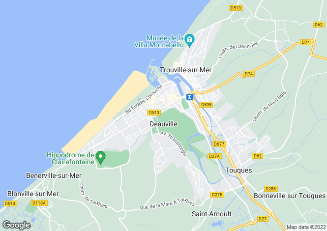 Map for House 5 Minutes From The Sea, Deauville, Normandy