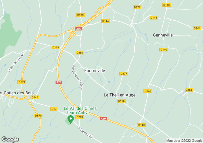 Map for fourneville, Calvados, France