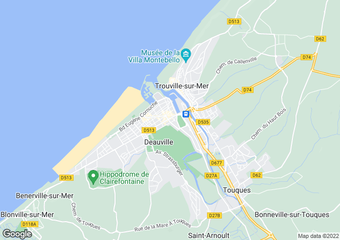 Map for Normandy, Calvados, Deauville