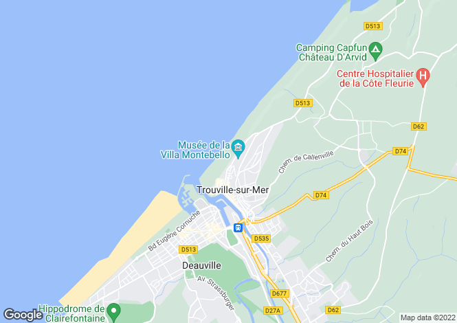 Map for Apartment In 19th Century Villa, Trouville-Sur-Mer, Calvados