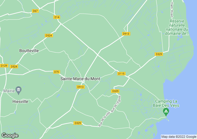 Map for Normandy, Manche, Ste-Marie-du-Mont