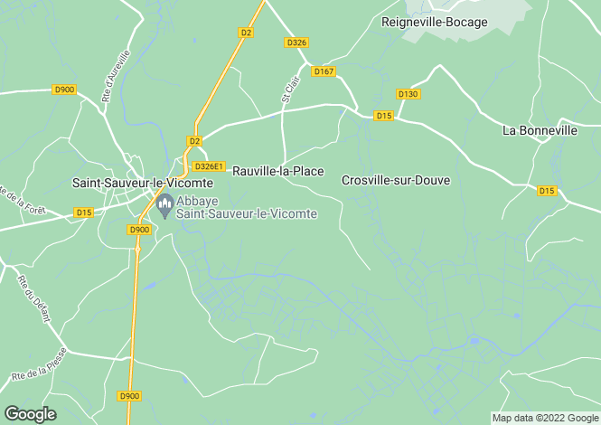 Map for 50390 RAUVILLE-LA-PLACE, Manche, France