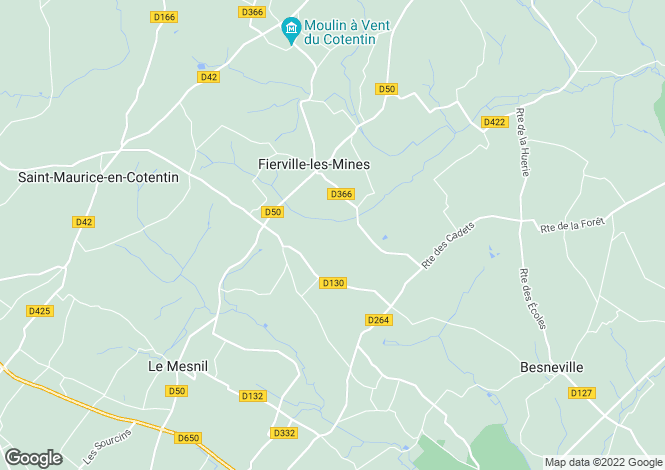 Map for fierville-les-mines, Manche, France