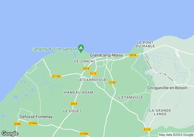 Map for Normandy, Calvados, Grandcamp-Maisy