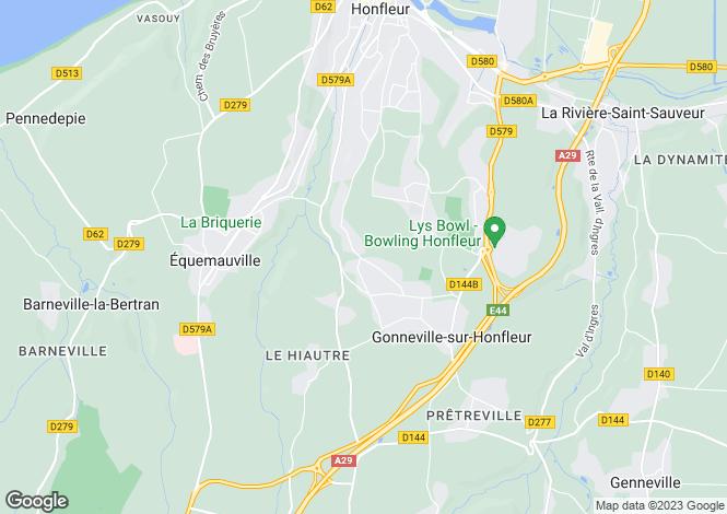 Map for Normandy, Calvados, Gonneville-sur-Honfleur