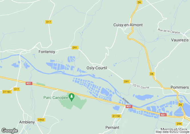 Map for osly-courtil, Aisne, France