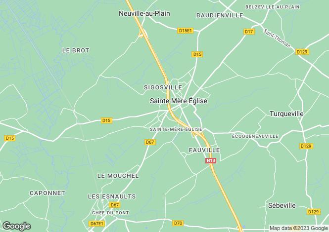 Map for sainte-mere-eglise, Manche, France