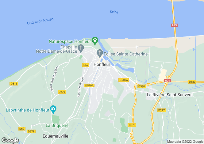 Map for 17th Century House In Honfleur, Normandy
