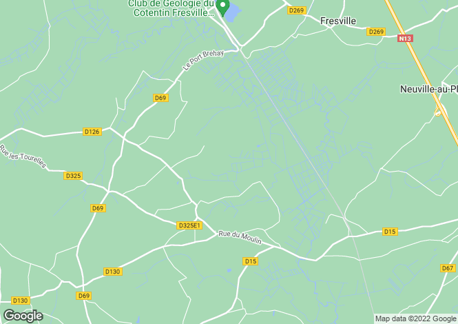 Map for amfreville, Manche, France