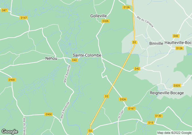 Map for ste-colombe, Manche, France