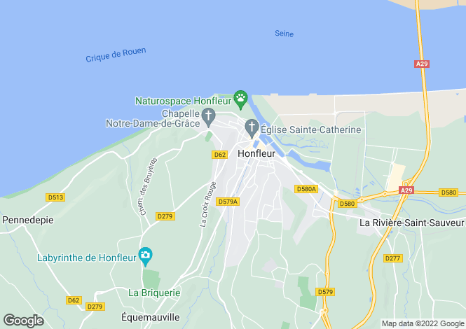 Map for Mansion In Honfleur, Calvados, Normandy