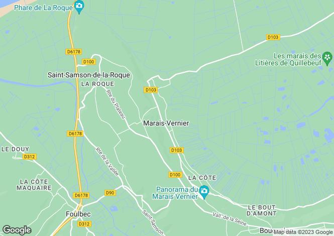 Map for marais-vernier, Eure, France