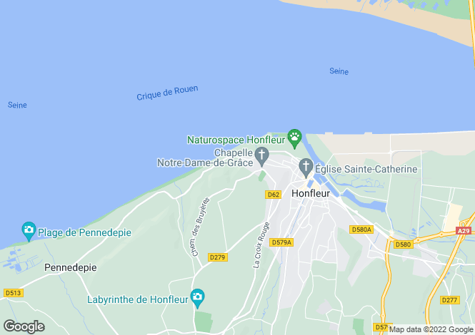 Map for Normandy, Calvados, Honfleur