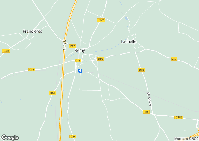 Map for remy, Oise, France