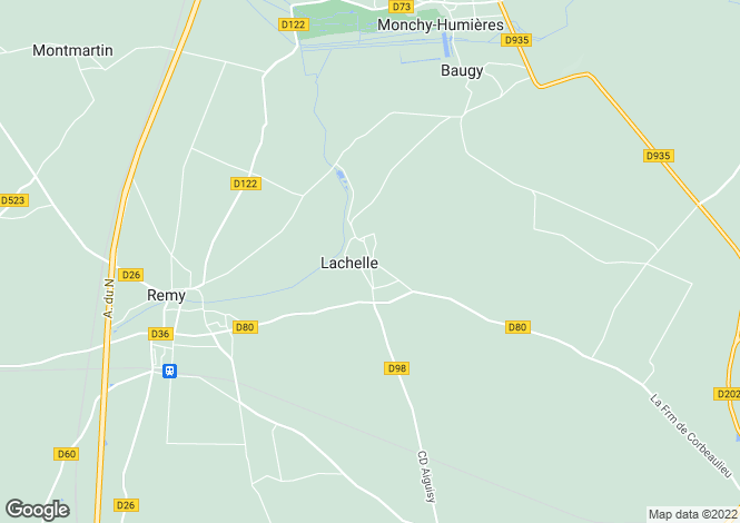 Map for lachelle, Oise, France