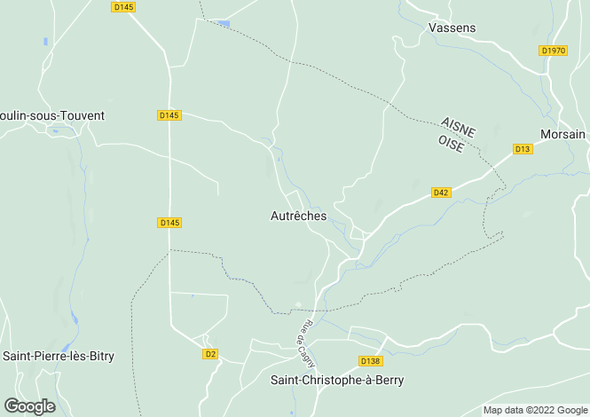 Map for autreches, Oise, France