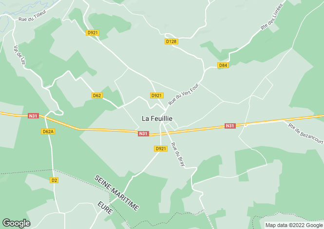 Map for la-feuillie, Seine-Maritime, France