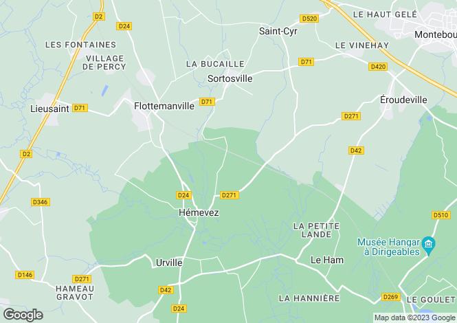 Map for hemevez, Manche, France