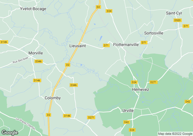 Map for lieusaint, Manche, France